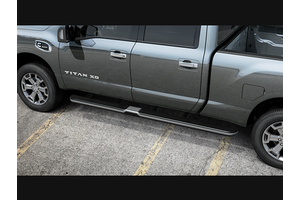 Running Boards LH CC 5.5 w/o Lights - Chrome (Titan Crew Cab 5.5 Bed). Titan Crew Cab 5.5 Bed image for your Nissan
