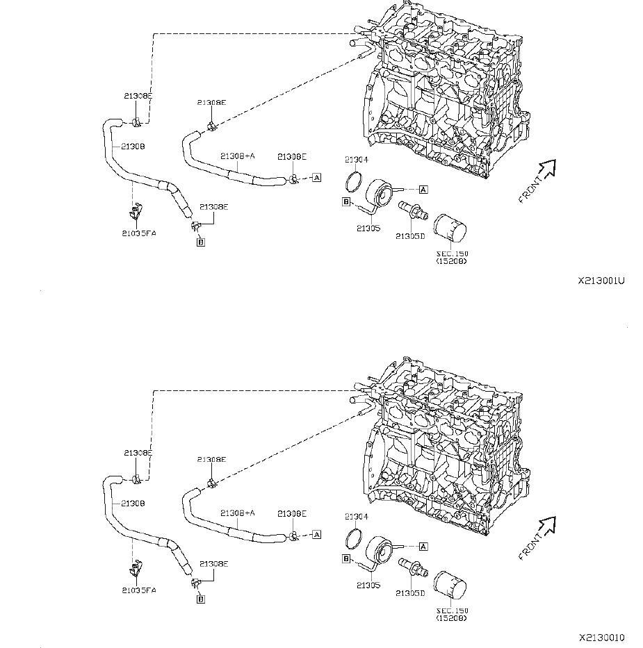 21304-JA11A - Nissan Gasket Oil Cooler. Ring Rubber. FLX ...